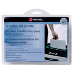 Rexel Shredder Oil Lubricant Sheets Pack of 12