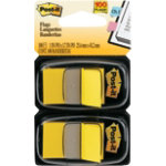 Post it Standard Index Flags 25 x 44 mm   yellow pack of 2