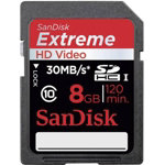 Sandisc Extreme HD Video SDHC 8GB Memory Card