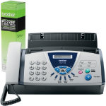 Brother FAX T104 Fax Machine and Brother PC72RF Ribbon Bundle