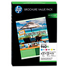 Original HP 940XL high capacity tri colour cyan magenta yellow printer ink cartridge plus 100 sheets of paper CG898AG