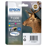 Epson T1306 cyan magenta yellow printer ink cartridge T130640