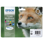 Epson T1285 Original Black 3 Colours Ink Cartridges C13T12854010