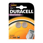 Duracell Coin Cell Lithium Battery CR2025 3V Pack of 2