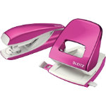 Leitz Stapler and Holepuncher 30 sheets pink