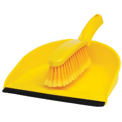 Dustpan and Soft Brush Set Yellow
