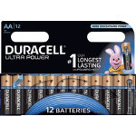 Duracell Ultra Power MX1500 Alkaline AA Batteries Pack of 12