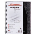 Office Depot Ruled Polypropylene Spiral Pad A5 80 Sheets Per Pad
