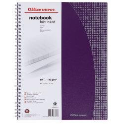 Office Depot A4 80gsm 80 Sheet Ruled Polypropylene A4 Twinwire Notebook