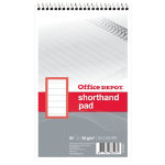 Office Depot 80 Sheets 60 Gsm Soft Covered Shorthand Pad 125X200mm 10 pk