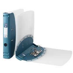 Hermes Polypropylene Mini Lever Arch Files A4 Metallic Blue