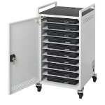 Bretford 10 Bay Laptop Storage and Recharge Unit Trolley