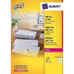 Avery laser address labels Pack of 250 635 X 720 mm