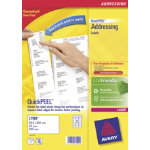 Avery Laser Addressing Labels 381 x 635mm White 840 Labels Per Pack L7160 40