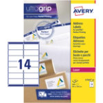 Avery Laser Addressing Labels 381 x 991mm White 560 Labels Per Pack L7163 40