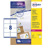 Avery Laser BlockOut Addressing Labels 991 x 677mm 8 Label Per Sheet 40 Sheets Per Pack L7165 40