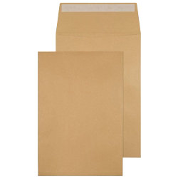 Viking Plain C4 Gusset Peel and Seal Manilla Envelopes 120gsm 10 pk