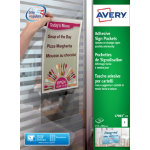 Avery L7083 10 Adhesive Sign Pockets 304x221mm White  10 pk