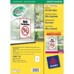 Avery L7091 10 Durable Signs 275x190mm White 10 pk