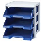 Leitz Plus Letter Tray Rack Blue A4
