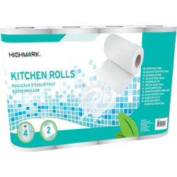 Highmark Kitchen Roll 2 ply Pack 4