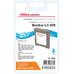 Office Depot Compatible Brother LC970C Ink Cartridge Cyan