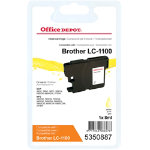 Office Depot Compatible for Brother LC1100 Yellow Ink Cartridge LC 1100YL