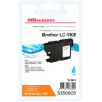Office Depot Compatible for Brother LC1100 Cyan Ink Cartridge LC 1100CY