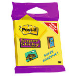Post it Super Sticky Notes Ultra Yellow 76 x 76 75 Sheets Per Pad