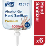 Hand Sanitiser Alcohol Gel 1 Litre Pack of 6