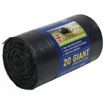 The Green Sack giant sacks black 1150 x 720mm h x w  15kg 120ltr capacity roll of 20