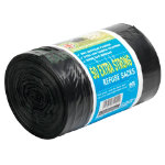 The Green Sack extra strong sacks black 940 x 710mm h x w 15kg 60ltr capacity roll of 50