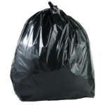 Light duty wheelie bin liner refuse sacks black 240ltr 100 per box