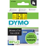 DYMO Thermal Label 53718 24 x 7000 mm Black Yellow