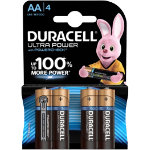 Duracell Ultra Power MX1500 Alkaline AA Batteries Pack of 4