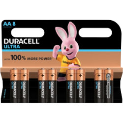Duracell Ultra Power MX1500 Alkaline AA Batteries Pack of 8