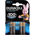 Duracell Ultra Power MX2400 Alkaline AAA Batteries Pack of 4