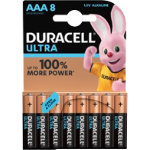 Duracell Ultra Power MX2400 Alkaline AAA Batteries Pack of 8