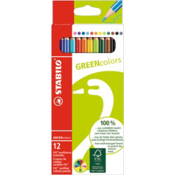 Stabilo Green Colours Colouring Pencils Pack of 12