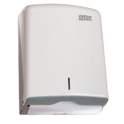 OFFICE DEPOT TOWEL DISPENSER WHITE