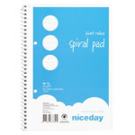 niceday A5 60gsm 50 sheet 2 hole puched Ruled Notebook 10 pk