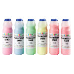 Fluorescent Art Sand Blue Red Yellow Pink Green and Orange 6 x 350g