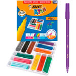 Bic Kids Visa Fine Felt Tip Pens Class Pack of 144