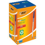 Bic Ballpoint Ecolution Stick Pens Blue Pack of 60