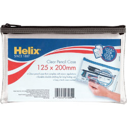 Helix PVC Pencil Case 200mm x 125mm
