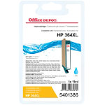 Office Depot compatible HP CB323EE XL cyan ink cartridge