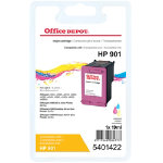 Office Depot Compatible hp 901 Ink Cartridge cc656ae 3 Colours