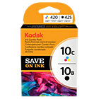 Kodak 10B 10C Original Black 3 Colours Inkjet Cartridges 3949948