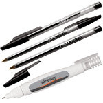 Niceday Ball Point Pens Medium Tip Black Box 50 Niceday Correction Pen Bundle