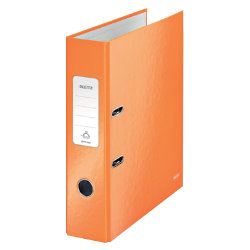 Leitz Wow 180° Lever Arch File A4 80mm Orange